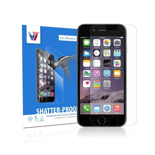 V7 Shatter-Proof Tempered Glass Screen Protector for iPhone 6 & 6s
