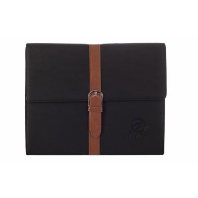 KyasiBelt Buckle Designer Premium Quality Folio Case & Stand for iPad 2 iPad 3 or iPad 4 - Black(KYBBIP2C2)