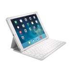Kensington KeyFolio Thin X2 - Keyboard and folio case - Bluetooth - US - white keyboard , white case - for Apple iPad Air 2 K97386US