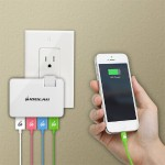 GearPower QuadSmart USB Wall Charger - Folding Power adapter - Charge 2 iPads or 4 smartphones simultaneously