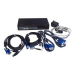 ConnectPro UVV-12+KIT - KVM / USB switch - USB - 2 x KVM port(s) - 1 local user - desktop UVV-12-PLUS-KIT
