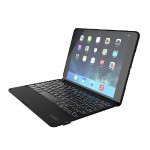 Folio Case Hinged with Backlit Bluetooth Keyboard for iPad Air 2 - Black