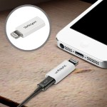 White Apple Lightning to Micro USB Adapter - iPhone iPod iPad - iPad / iPhone / iPod charging / data adapter - Lightning / USB - 5 pin Micro-USB Type B (F) - Lightning (M) - white - for Apple iPad Air; iPad Air 2; iPad mini; iPad mini 2; iPad with Retina