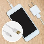 Hama GmbH & Co KG 3ft Gold-Plated Lightning to USB Charge/Sync Cable - Apple MFI Certified - Exceeds Military Standards - White U6108988