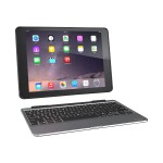 Slim Book - Keyboard and folio case - Bluetooth - black keyboard, black case - for Apple iPad Air 2