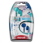 Maxell Duets Earbuds - Aqua / Navy 196156