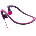 Open-Ear Bone Conduction Headphones with Reflective Design - Pink