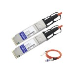 Dell 331-5216 Compatible TAA Compliant 40GBase-AOC QSFP+ to QSFP+ Direct Attach Cable (850nm, MMF, 10m)