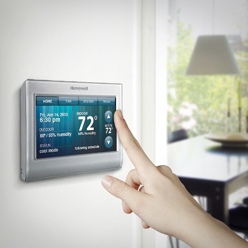 macmall honeywell wi fi smart thermostat for iphone