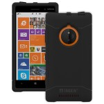 Trident Aegis Series - Back cover for cell phone - rugged - TPE, hardened bio-enchanced polycarbonate - black - for Nokia Lumia 830