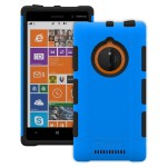 Trident Aegis Series - Back cover for cell phone - rugged - TPE, hardened bio-enchanced polycarbonate - blue - for Nokia Lumia 830