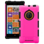 Trident Aegis Series - Back cover for cell phone - rugged - TPE, hardened bio-enchanced polycarbonate - pink - for Nokia Lumia 830