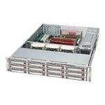 Supermicro SC826 E2-R800LPB - Rack-mountable - 2U - extended ATX - SATA/SAS - hot-swap 800 Watt - black