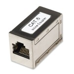 Intellinet Network Solutions Modular In-Line Coupler - Network coupler - RJ-45 (F) to RJ-45 (F) - CAT 6 - silver 505130