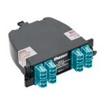 QuickNet 40 to 10GbE Fiber Optic Cassette - Pre-terminated fiber optic cassette - LC MM X 16
