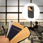Zip Wallet for iPhone 6 - Black - Hand-crafted from American Leather. Keeps IDs & Credit Cards