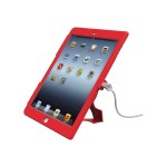 iPad Lockable Case Bundle With T-Bar Cable Lock and iPad Air Security Case / Cover Red - Protective case for tablet - plastic - red - for Apple iPad Air; iPad Air 2
