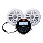 "Marine MCKGB350W.6 - Marine - digital receiver - in-dash - 60 Watts x 4 - with two 6.5"" speakers"