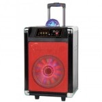 """8"""" Rechargeable Bluetooth DJ Speaker with Woofer"""
