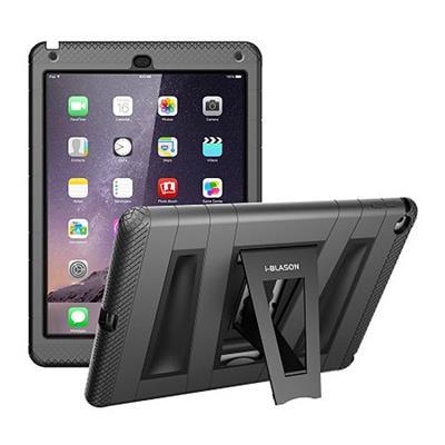 i-BlasonArmorBox 2 Layer Full-Body Protection KickStand Case for iPad Air 2(AIR2-ABH-BLACK)