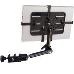 """Unite Wheelchair Mount MNU209 - Mounting kit ( 3 joints, adjustable holder, wheelchair clamp mount, 2 arms ) for tablet - carbon fiber - screen size: 7"""" - 12"""""""