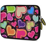 Protective sleeve for tablet / eBook reader - neoprene - heart gather