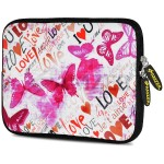 Protective sleeve for tablet / eBook reader - neoprene - butterfly zone