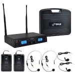 Pyle Premier Series Rack-Mount UHF Wireless Microphone System PDWM3365