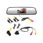 PLCM4370WIR - Rear view camera with rearview mirror monitor