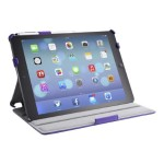 Slim Folio Book Shell Stand Case - Screen cover for tablet - faux leather - purple - for Apple iPad Air