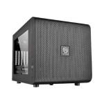 Core V21 - Micro tower - micro ATX - no power supply (PS/2) - black - USB/Audio