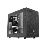 Core X1 - Cube - mini ITX - no power supply (PS/2) - black - USB/Audio