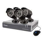 Swann Communications SWDVK-844004A - DVR + camera(s) - wired - 8 channels - 1 x 500 GB - 4 camera(s) SWDVK-844004A-US