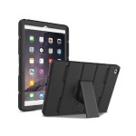 Layup Rugged Dual-Layer Case with Convenient Hand Strap and Kickstand for iPad Air 2 - Black
