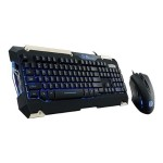 ThermalTake Tt eSPORTS COMMANDER Gaming Gear Combo - Keyboard and mouse set - USB - black KB-CMC-PLBLUS-01