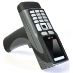 CR3600 Bluetooth Palm Barcode Scanner (Includes Battery and Charging Station with Embedded Modem with USB Charging Cable) - Dark Gray