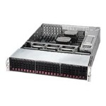 "Super Micro Supermicro SuperServer 2028R-E1CR24L - Server - rack-mountable - 2U - 2-way - RAM 0 MB - SAS - hot-swap 2.5"" - no HDD - AST2400 - GigE, 10 GigE - no OS - Monitor : none SSG-2028R-E1CR24L"