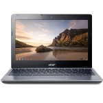 "Acer C720-2103 Intel Celeron Dual-Core 2955U 1.40GHz Chromebook - 2GB RAM, 16GB SSD, 11.6"" HD  LED, 802.11a/b/g/n, Bluetooth, Webcam, 3-cell Li-Polymer, Granite Gray (Open Box Product, Limited Availability, No Back Orders) NX.SHEAA.006-OB"