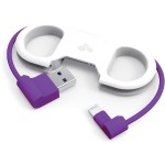 GoBuddy - Lightning cable - USB (M) to Lightning (M) - white, purple - for Apple iPad/iPhone/iPod (Lightning)