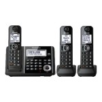 Panasonic KX-TGF343B - Cordless phone - answering system with caller ID/call waiting - DECT 6.0 - black + 2 additional handsets KX-TGF343B