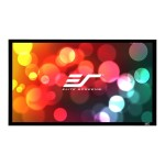 Elite Screens SableFrame 2 Series - Projection screen - 115 in ( 292 cm ) - 2.35:1 - CineWhite - black ER115WH2-WIDE