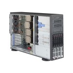 """Supermicro SuperServer 8048B-C0R3FT - Server - tower - 4U - 4-way - RAM 0 MB - SAS - hot-swap 3.5"""" - no HDD - AST2400 - GigE, 10 GigE - no OS - monitor: none"""