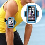 Belkin Slim-Fit Plus Armband - Arm pack for cell phone - neoprene - topaz - for Apple iPhone 6s & 6 F8W499BTC03