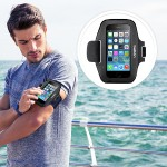 Sport-Fit Armband - Arm pack for cell phone - neoprene - blacktop, overcast - for Apple iPhone 6s & 6