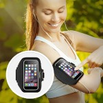 Sport-Fit Plus Armband - Arm pack for cell phone - neoprene - blacktop, overcast - for Apple iPhone 6s & 6