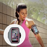 Sport-Fit Plus Armband - Arm pack for cell phone - neoprene - fuchsia, sidewalk - for Apple iPhone 6s & 6