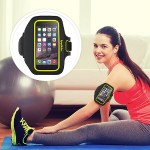 Sport-Fit Plus Armband - Arm pack for cell phone - neoprene - blacktop, limelight - for Apple iPhone 6s & 6