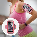 Slim-Fit Plus Armband - Arm pack for cell phone - neoprene - fuchsia, sidewalk - for Apple iPhone 6s & 6