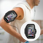 Sport-Fit Plus Armband - Arm pack for cell phone - neoprene - blacktop - for Apple iPhone 6s & 6s & 6 Plus