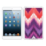 iPad Air White Glossy Case Bold Collection, Peach/Purple